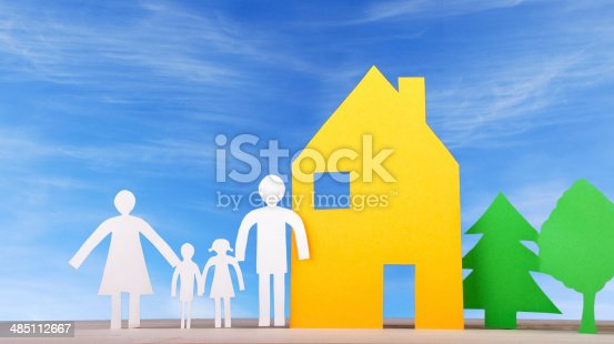 958039576istockphoto Family With House and Trees 485112667