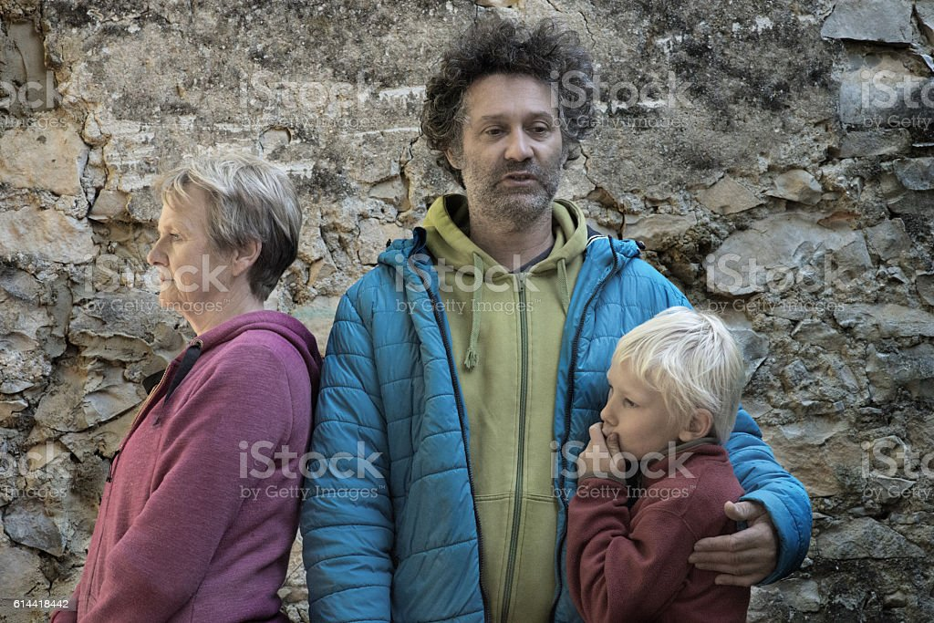 Family with problems stock photo