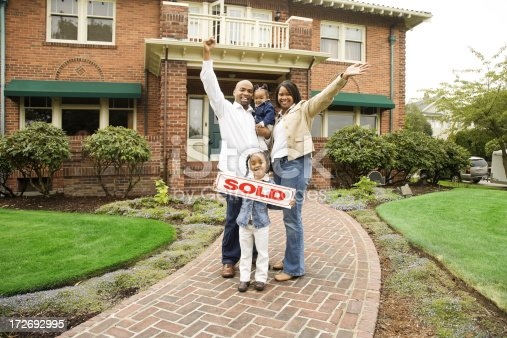 istock Family with Sold Home 172692995