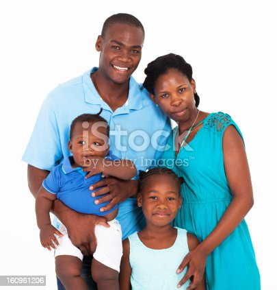 1126155137 istock photo A family with two children all dressed in blue 160961206