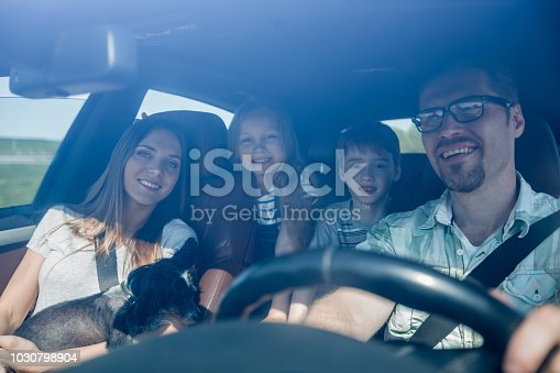 istock family with two children traveling in a family car 1030798904