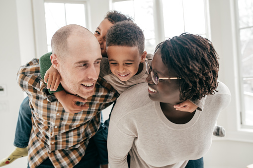 639403466 istock photo Family with two kids on weekend 1159099033