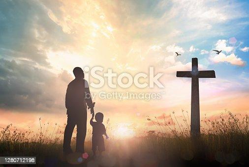 istock Family worship concept 1280712198