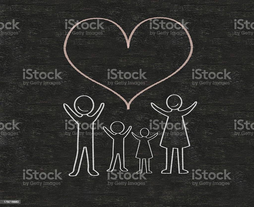 family written on a blackboard background high resolution royalty-free stock photo