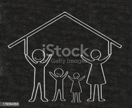 istock family written on a blackboard background high resolution 179264053