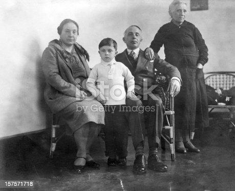 57520540 istock photo Family,1930.Black And White 157571718