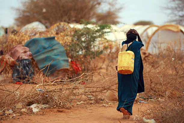 famine in africa dadaab refugee camp - somalia stock photos and pictures
