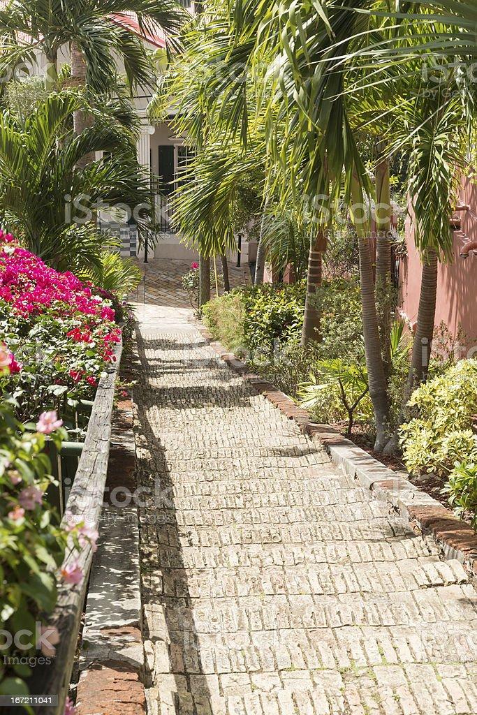 Famous 99 steps Charlotte Amalie royalty-free stock photo