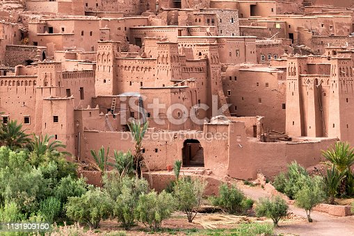 Famous Ait Benhaddou Kasbah in Morocco