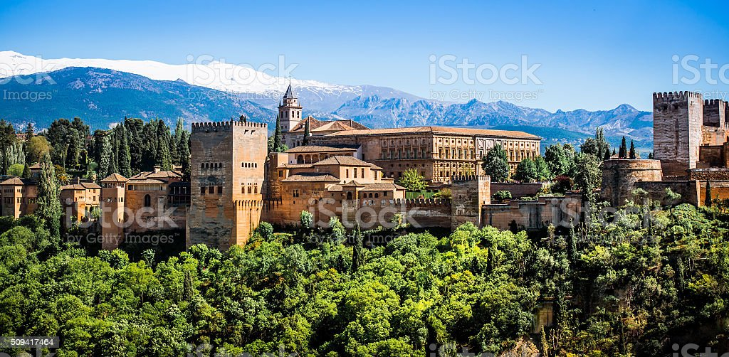 famous Alhambra in Granada stock photo