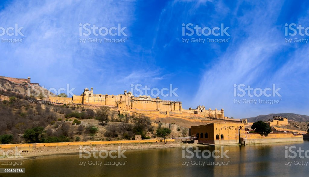 Famous Amer (Amber) Fort of Rajasthan, India stock photo