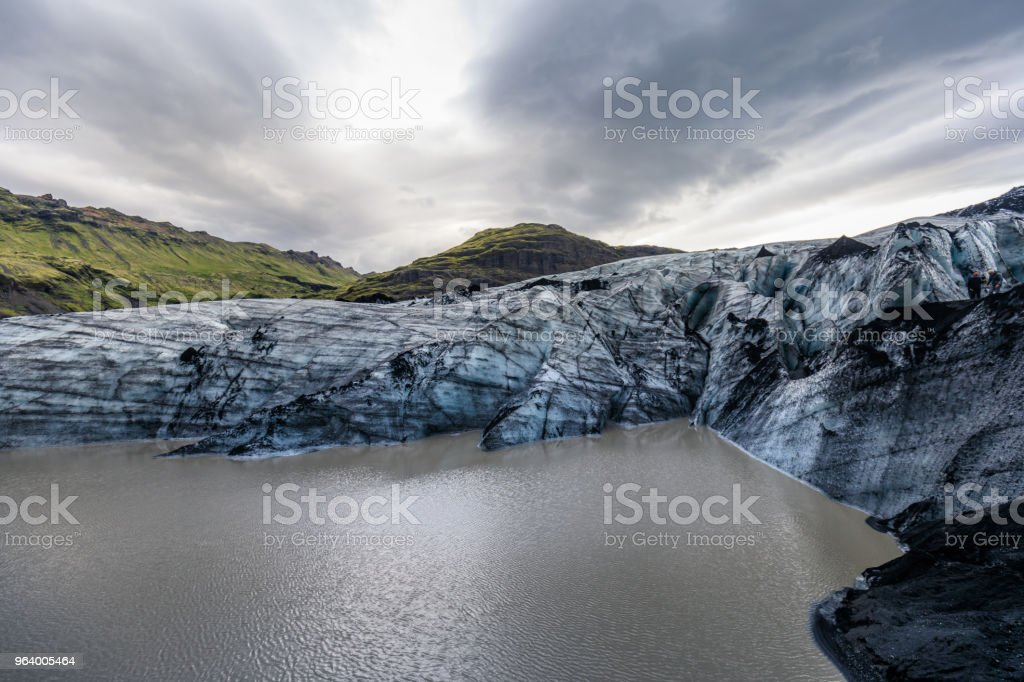 famous and beautiful glacier structure on lagoon fjallsarlon in iceland - Royalty-free Arctic Stock Photo