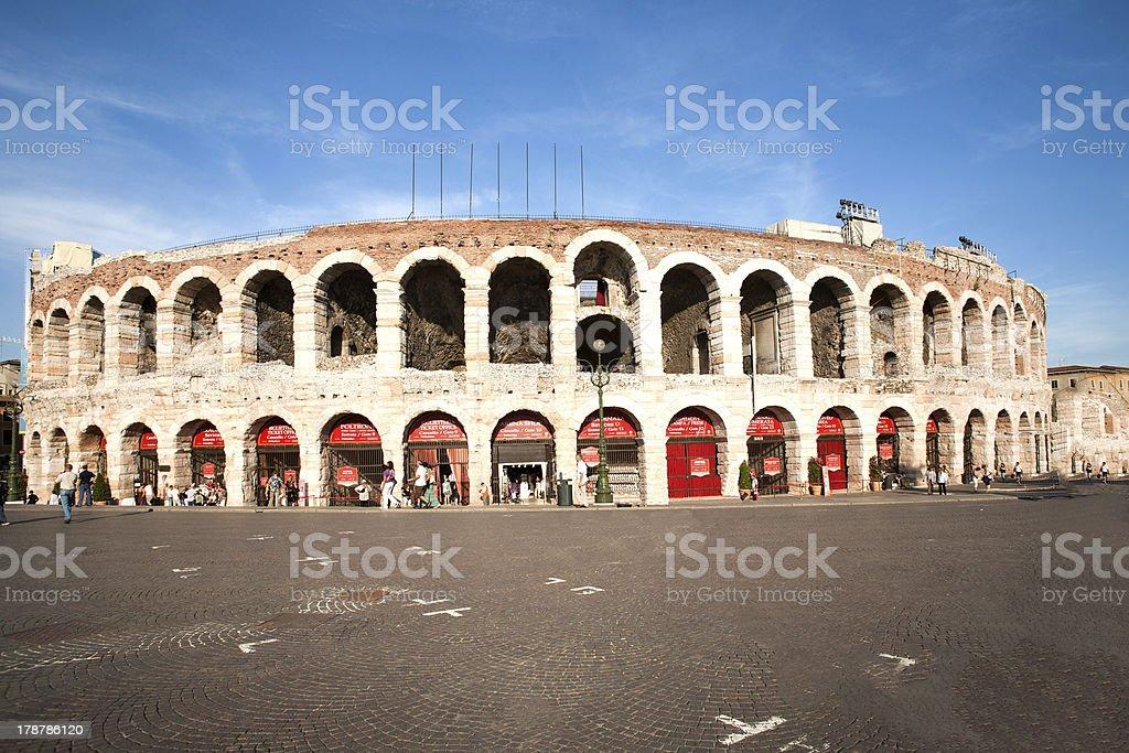 Weltberühmten arena di Verona, die alte römische Amphitheater theater – Foto