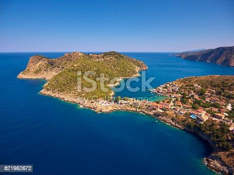 823335112 istock photo Famous Assos village in Kefalonia island 821962672