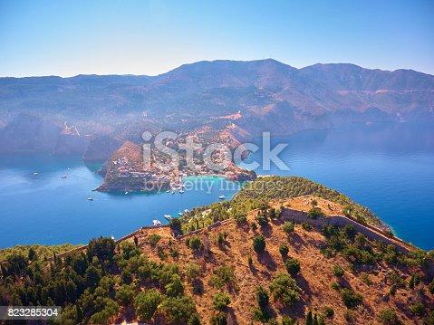 823335112 istock photo Famous Assos village in Kefalonia island 823285304