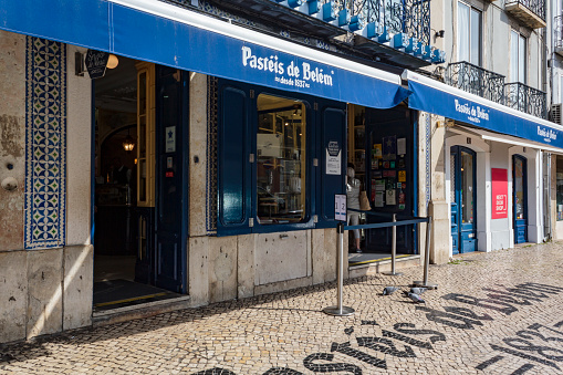 Famous bakery in Lisbon called Pasteis de Belem
