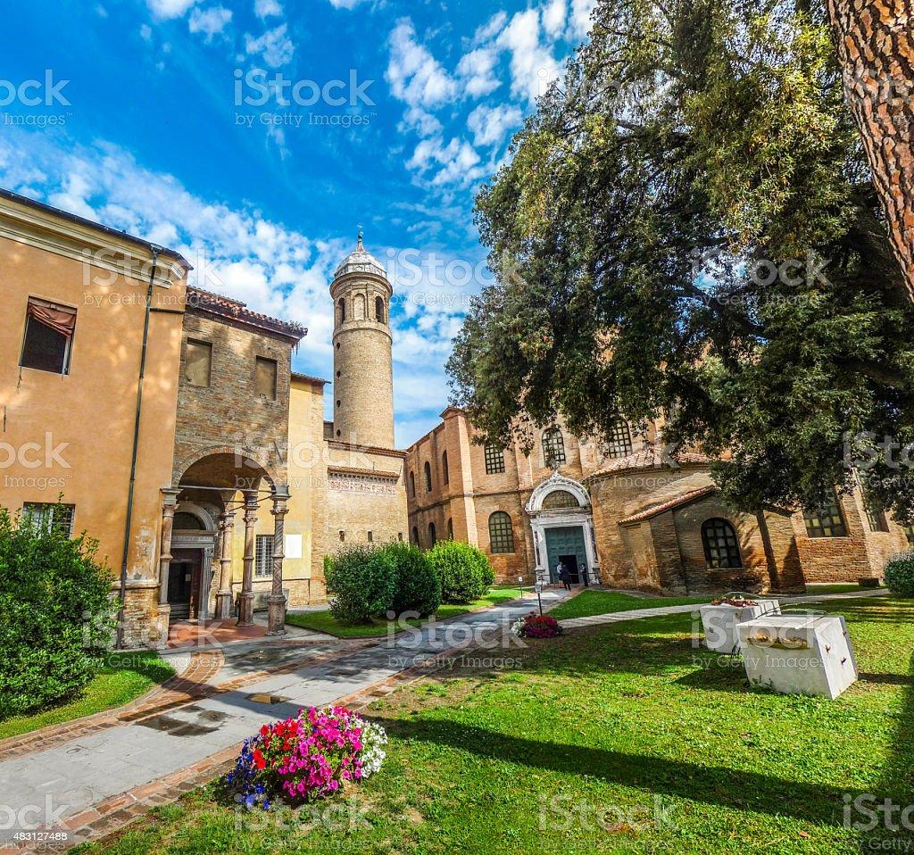 Famous Basilica di San Vitale in Ravenna, Italy stock photo