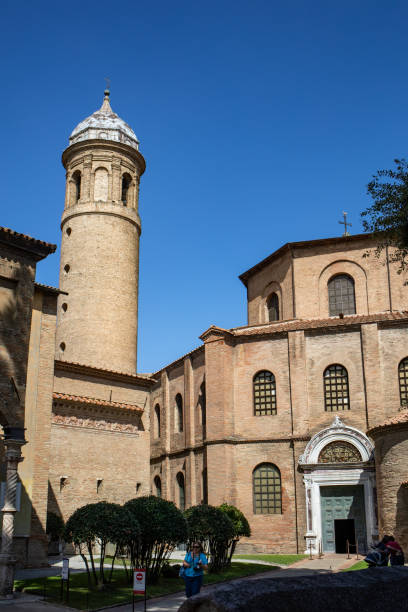 Famous Basilica di San Vitale, one of the most important examples of early Christian Byzantine art in western Europe, in Ravenna, region of Emilia-Romagna, Italy