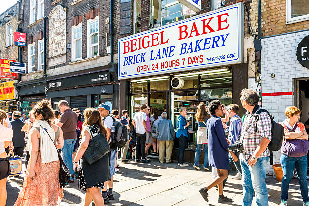 Famous Beigel Bake Brick Lane Bakery Beigel Shop Stock Photo ...
