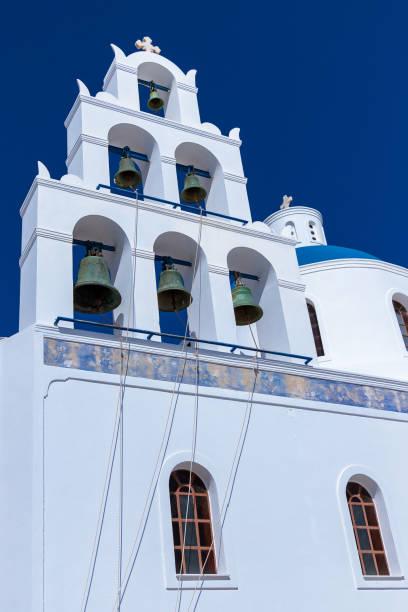 Famous bells in Oia, Santorini stock photo