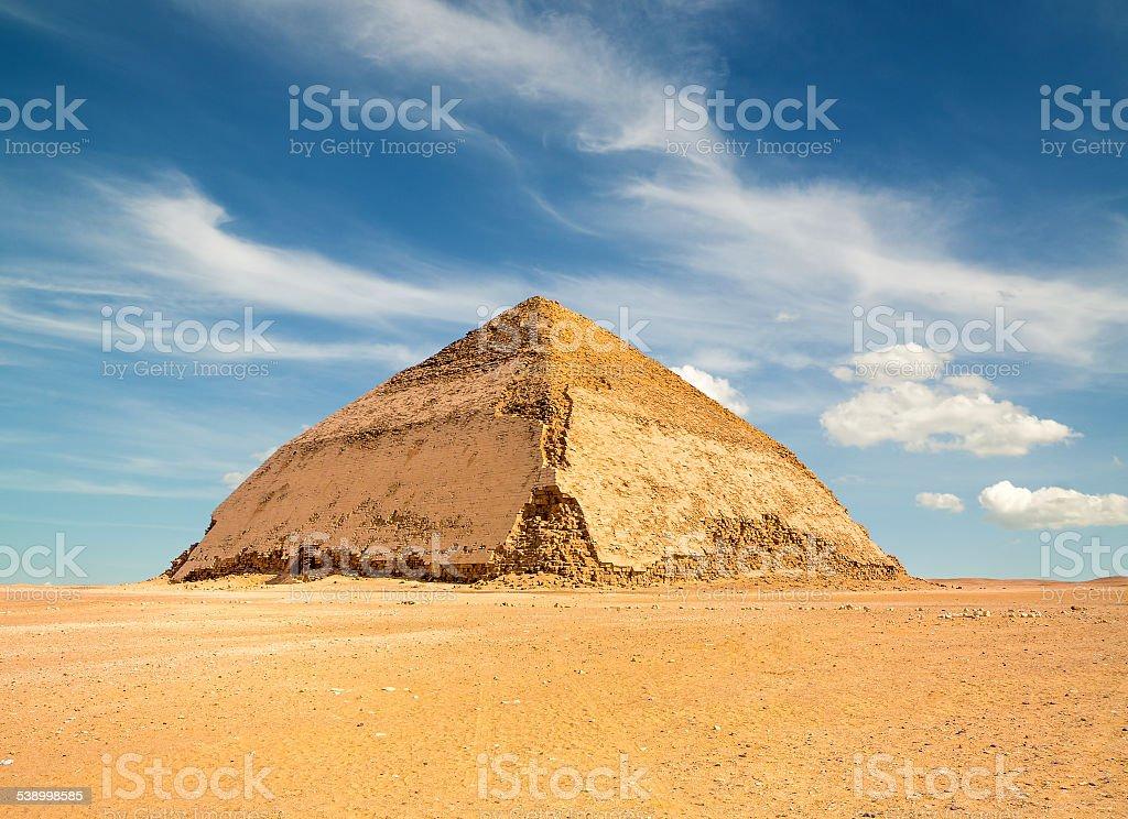 Famous Bent Pyramid in Dahshur stock photo