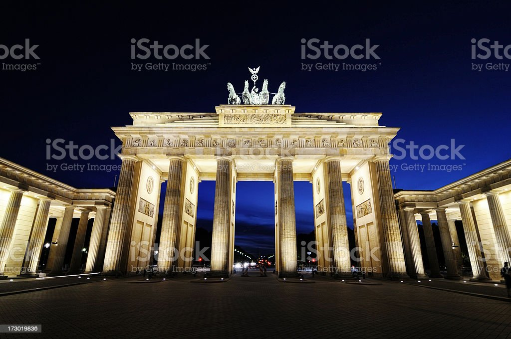 famous brandenburg gate royalty-free stock photo