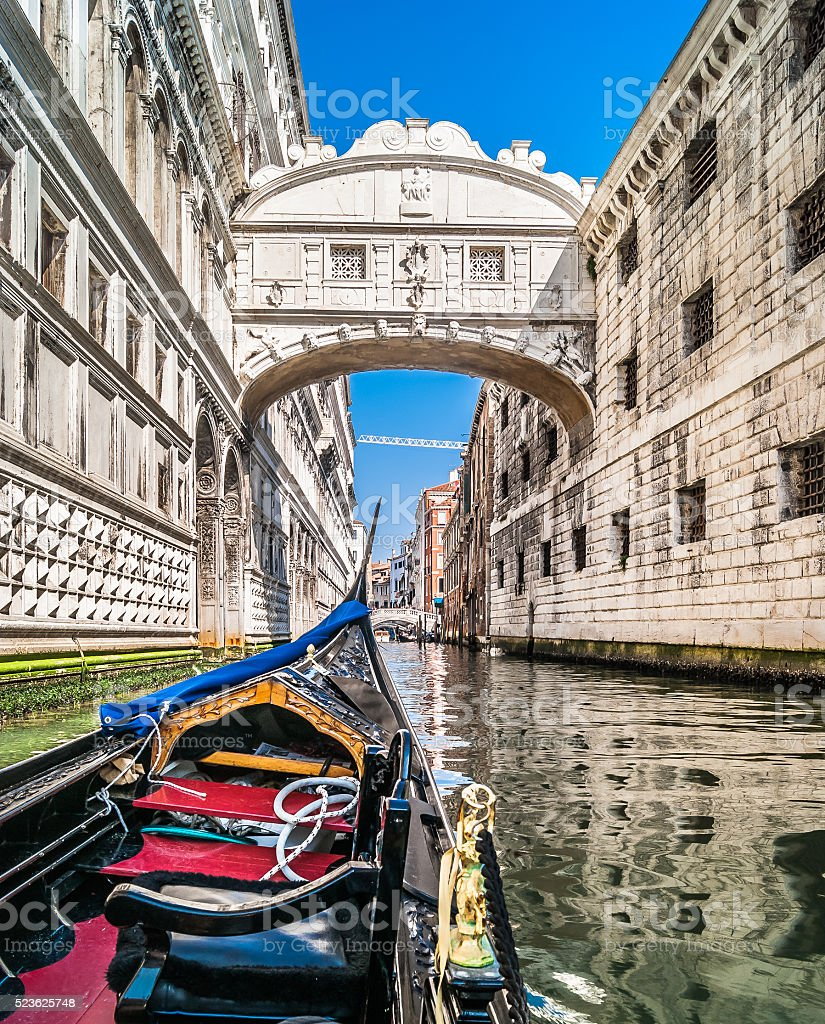 Famous Bridge of Sighs, Italy. stock photo