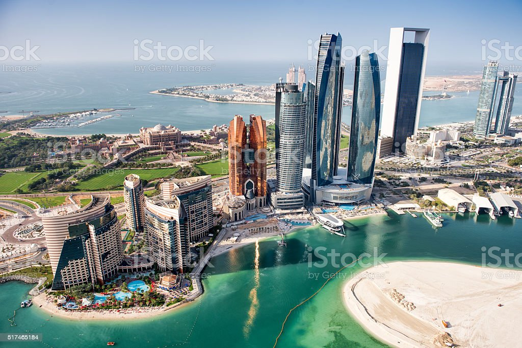 Famous buildings in Abu Dhabi​​​ foto