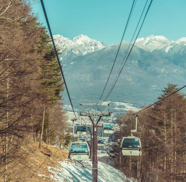 Berühmte Seilbahn , Skigebiet Nagano Japan – Foto