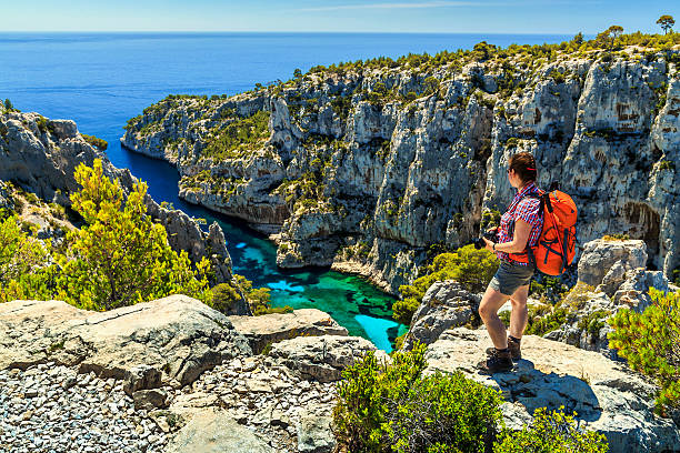 Famous Calanques D'En Vau in Cassis near Marseille,France stock photo