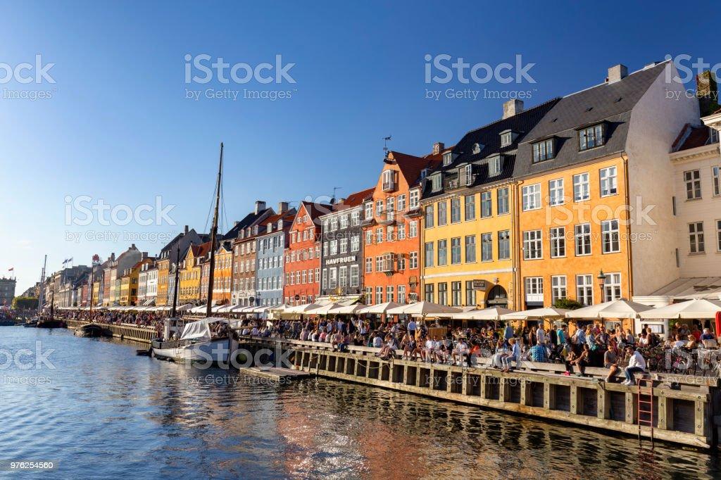 Famous canal in Copenhagen stock photo