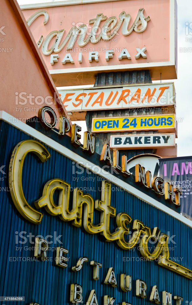 Famous Canter's Deli Bakery and Restaurant stock photo