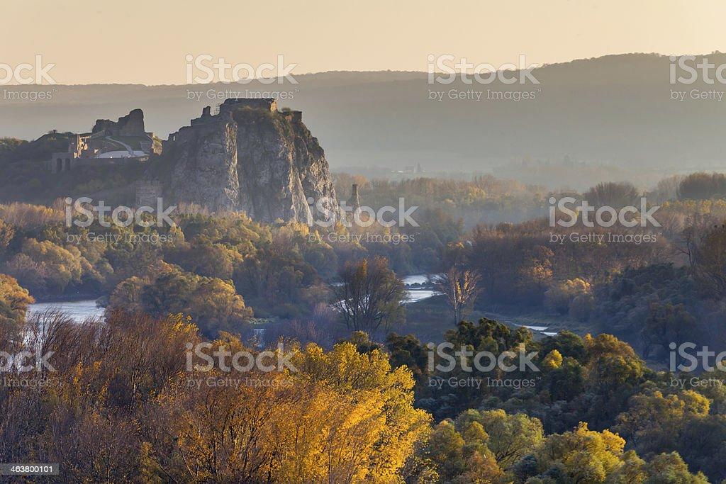 Famous castle Devin in Slovakia stock photo