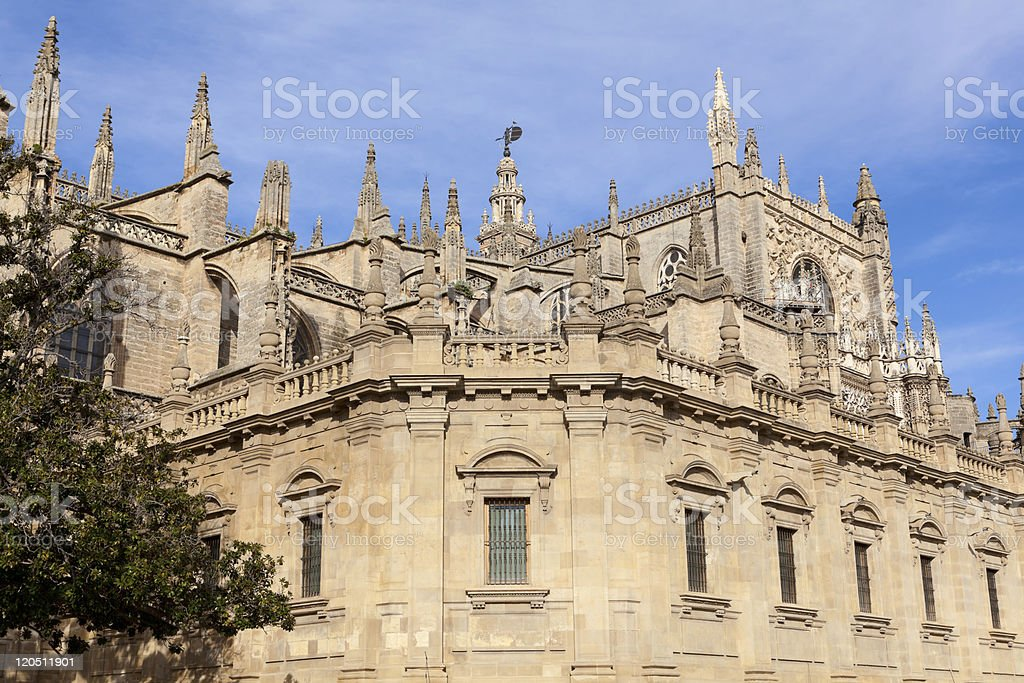 Famous Cathedral of Sevilla in Andalucia, Spain. royalty-free stock photo