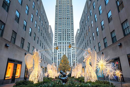 Famous Christmas Decoration - Rockefeller Centre, NYC