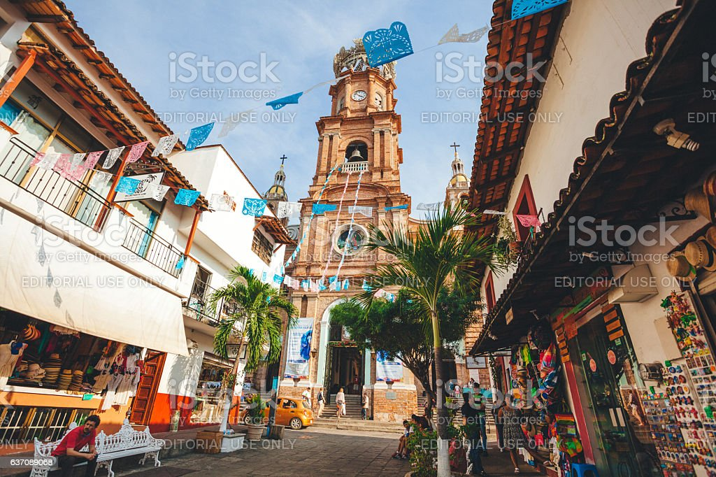 Famous church in Mexico stock photo