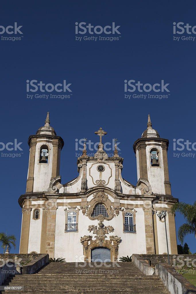 Famous church in Ouro Preto, State of Minas Gerais, Brazil stock photo