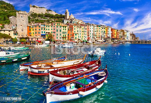 wonderful famous villages of Cinque terre in Liguria. popular tourist attraction in Italy