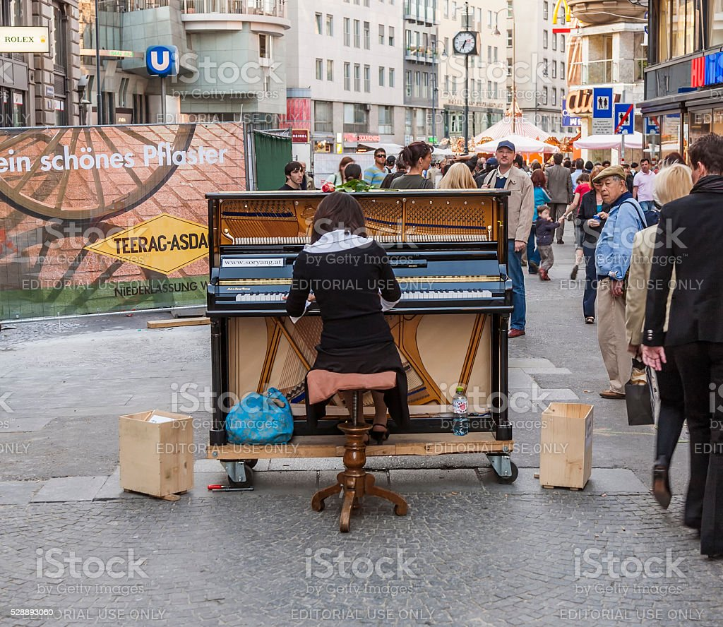 famous classical piano player SoRyang plays the piano stock photo