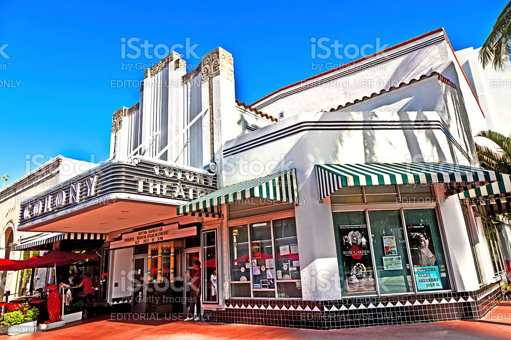 Famous Colony Art Deco Theater im South Miami stock photo