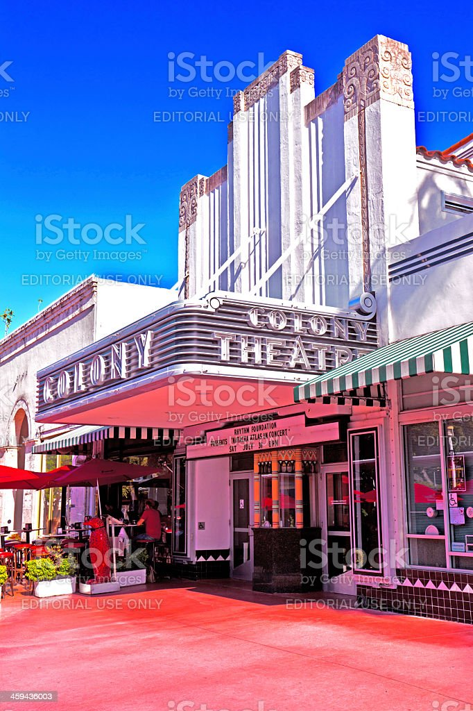 Famous Colony Art Deco Theater stock photo