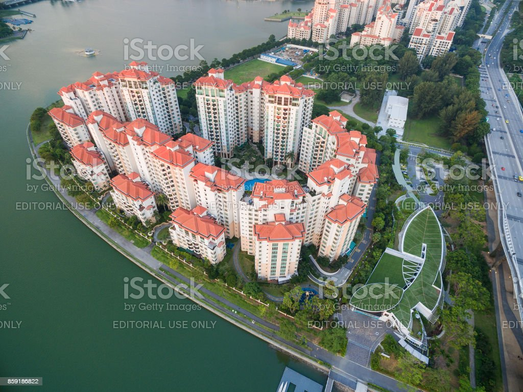 Famous Costa Rhu condo for living at downtown of the city stock photo