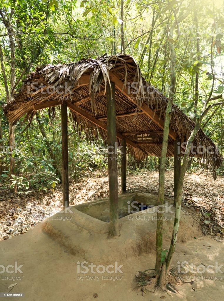 Famous Cu Chi tunnels, Vietnam stock photo