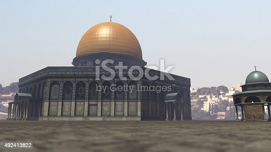 istock Famous Dome of the Rock in Jerusalem 492413822