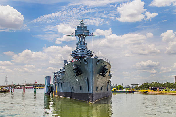 Famous Dreadnought Battleship Texas stock photo