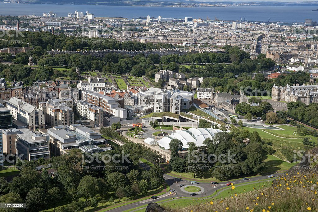Famous Edinburgh buildings stock photo