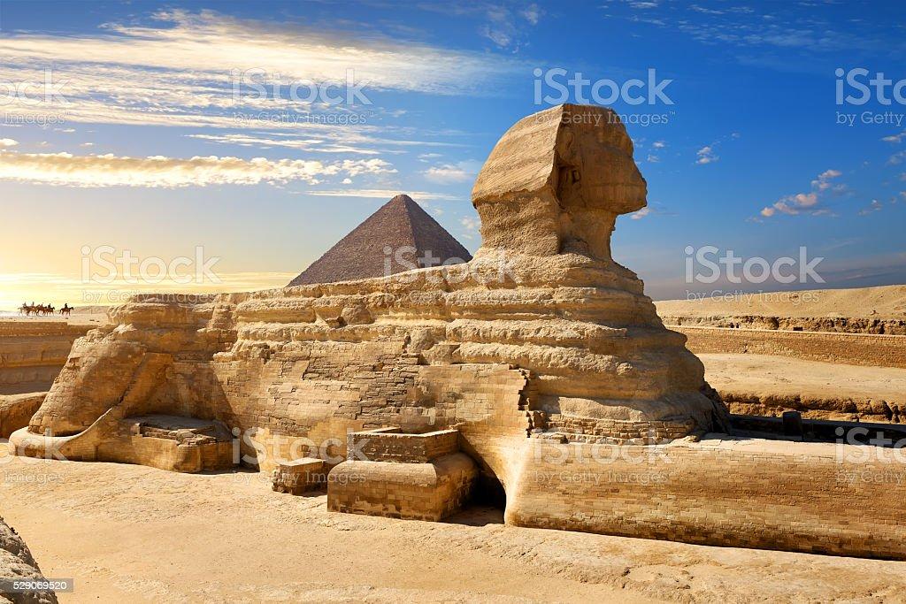 Famous egyptian sphinx stock photo