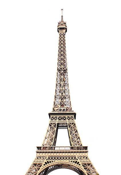 famous eiffel tower in paris - eiffel tower stock photos and pictures