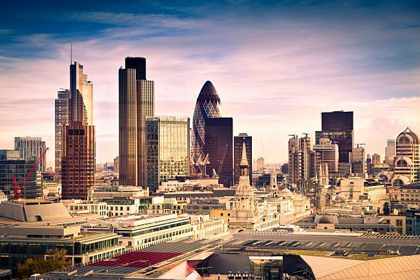 Berühmte Finanzviertel in London – Foto
