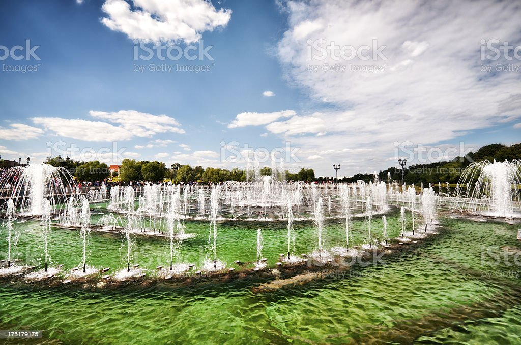 Famous Fountain in Moscow, Russia stock photo